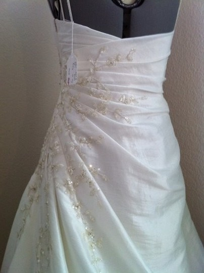 Wtoo White Taffeta Ivette 12022 Traditional Wedding Dress Size 2 (XS)