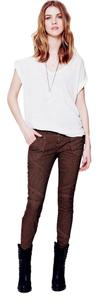 Free People Painter Ankle Sexy Hippie Skinny Jeans-Medium Wash