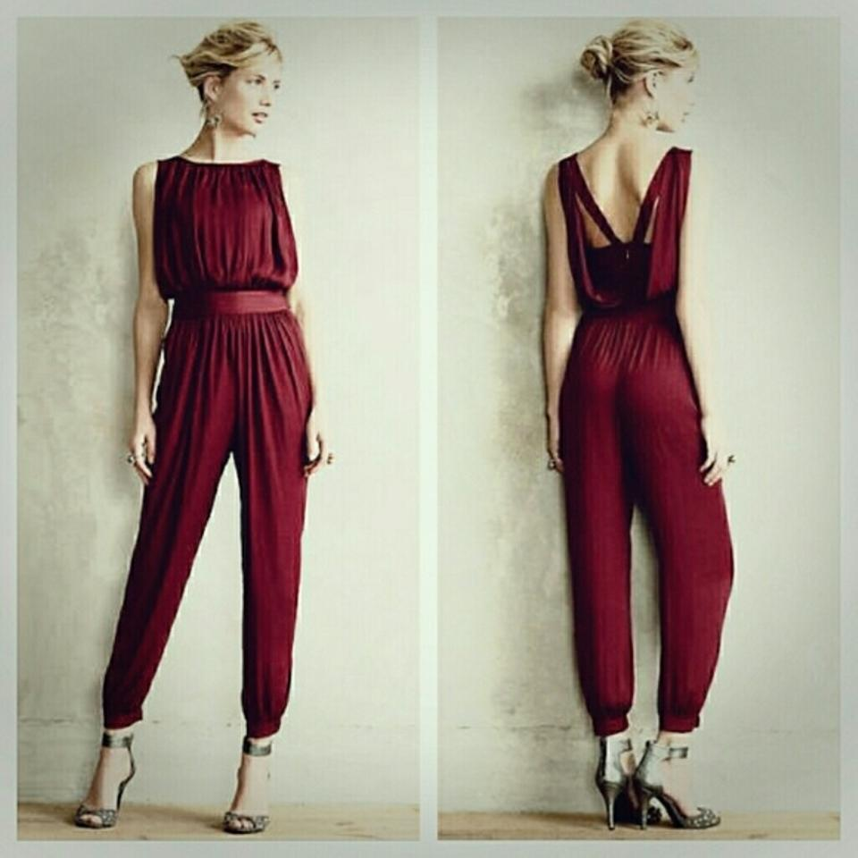 773b83bb245e Anthropologie Dark Red Morgan Carper Garnet Jumper Small Romper ...
