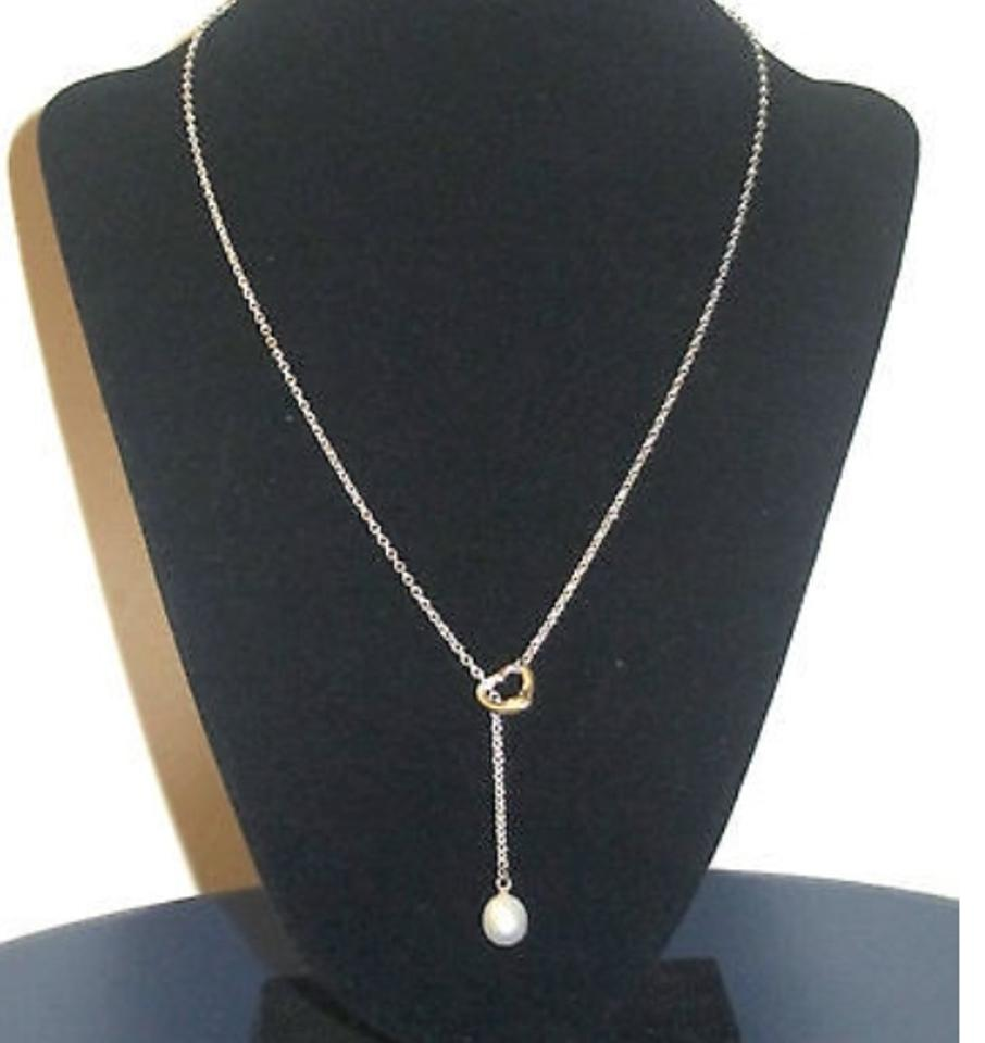 Tiffany co pearl elsa peretti open heart lariat with necklace tiffany co pearl elsa peretti open heart lariat with necklace tradesy aloadofball Gallery