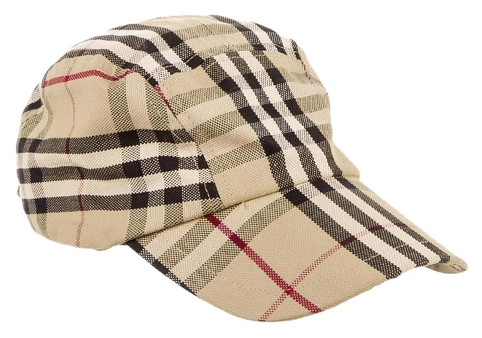 88a5b69cb Burberry Beige Black White Tan Multicolor Nova Check Baseball Cap New Hat