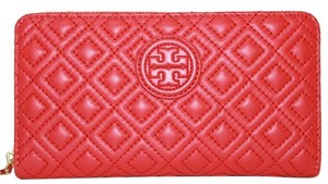 Tory Burch Tory Burch Marion Quilted Multi Gusset Wallet Leather