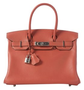 Hermès Rosy Birkin 30 Swift Leather Satchel