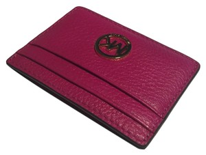 Michael Kors Michael Kors Fuschia Pink Luggage Brown Credit Card Case Holder