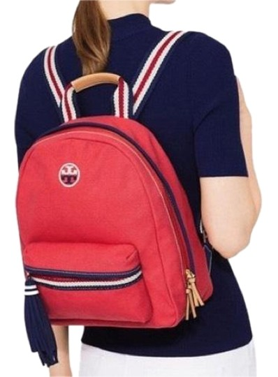 Preload https://img-static.tradesy.com/item/8918002/tory-burch-t-embroidered-embroidered-t-cherry-apple-canvas-backpack-0-3-540-540.jpg