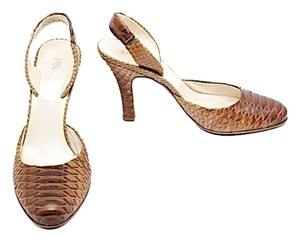 Praa Prada Ombre Brown Snakeskin Pumps