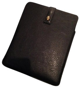 Alexander McQueen Alexander McQueen iPad Tablet Case Holder, Black leather , skull