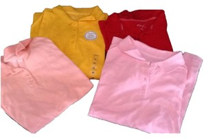 Kim Rogers Polo Shirt T Shirt Yellow pink red peach