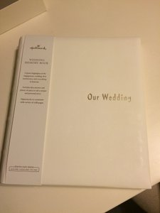Hallmark Wedding Memory/keepsake Book W/ Bonus Wedding Photograph Album