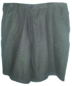 Kim Rogers 2x Linen Dress Shorts Dark Brown