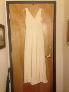 J.Crew Cream Silk Wedding Dress Size 8 (M)