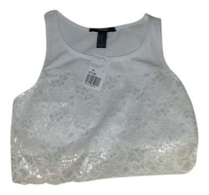 Forever 21 Crop Ssexy Lace Tunic