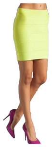 BCBGMAXAZRIA Mini Bodycon Neon Mini Skirt Lime green