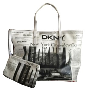 DKNY Tote in Black And White