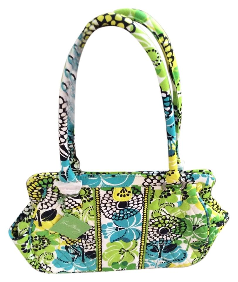 Vera Bradley Frame Lime\'s Up Lime Green Yellow Teal Green Black and ...