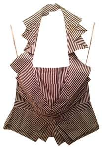 Karen Millen Top Black/White Striped