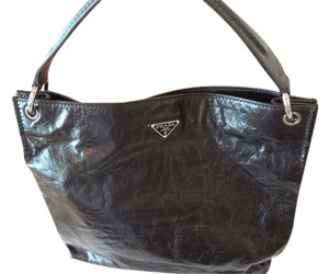 Prada Hobo Leather Shoulder Bag