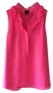 J.Crew Ruffle Sleeveless Summer Top Pink