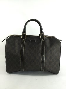 Gucci Joy Boston Ggplus Satchel in Dark Brown