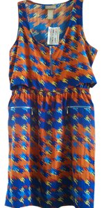 Miss Tina Houndstooth Multicolored Zippered Dress
