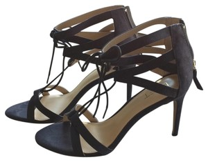 Ann Taylor LOFT Strappy Party Date Night Black Pumps
