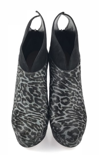 ALAA Black and Grey Leopard Boots