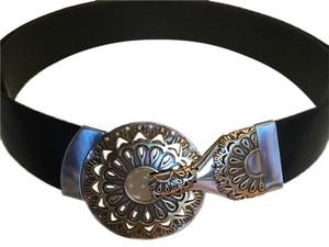 Chico's Chico black leather belt with 3