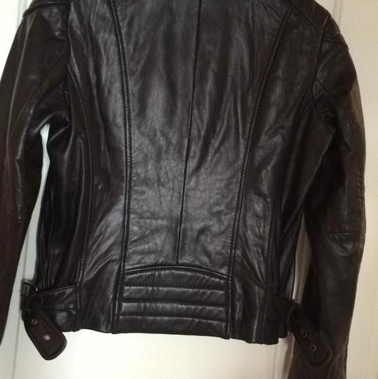 ae5afe9a7ff0 delicate Michael Kors Moto Motorcycle Leather Leather Motorcycle Jacket - 70%  Off Retail