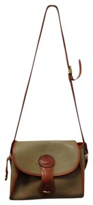 Dooney & Bourke Leather Career Beige Cross Body Bag