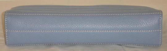 Lambertson Truex Quilted Leather Blue Clutch