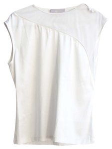 Katharine Kidd Silk Illusion Covered Buttons Silk Top Off White