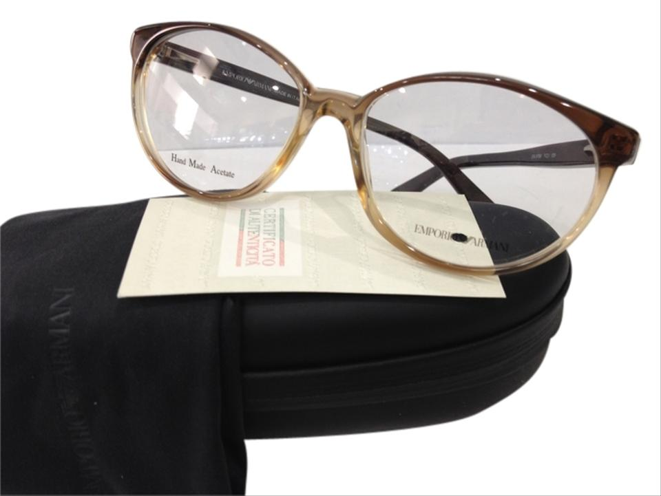 d5dd0b0249d3 Emporio Armani Yzj Brown Gradient New Ea9786 Color Round Plastic Eyeglasses  Frame Made In Italy