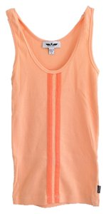 bebe Sporty Casual Stripes Top Sherbet Orange