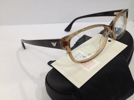 Emporio Armani NEW EMPORIO ARMANI EA9648 COLOR 0H5 CRYSTAL BROWN PLASTIC EYEGLASSES MADE IN ITALY