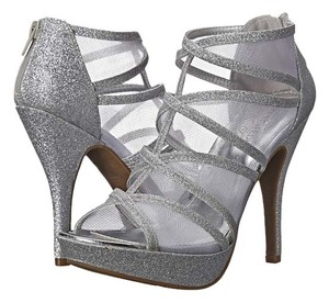 Unlisted by Kenneth Cole Silver Glitter Pumps