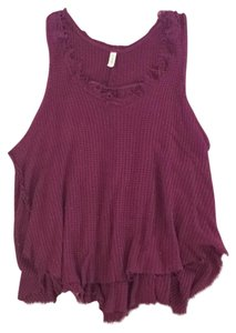 Free People Top Burgundy