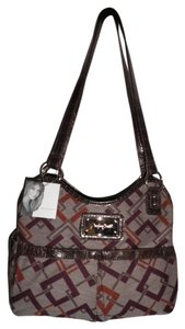 Jaclyn Smith Tote in Brown, Purple, Rust
