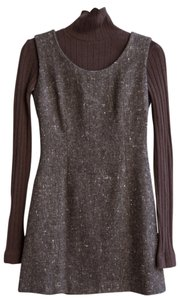 Dolce&Gabbana short dress Brown Vintage Tweed Crop Turtleneck on Tradesy