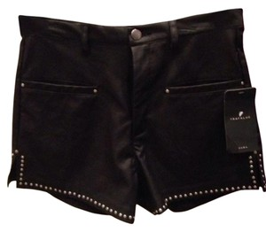Zara Shorts Black Silver Studded