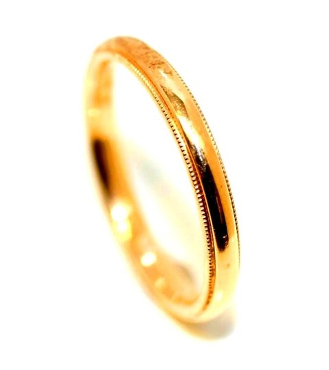 Yellow 14kt Gold Gem's Men's Wedding Band