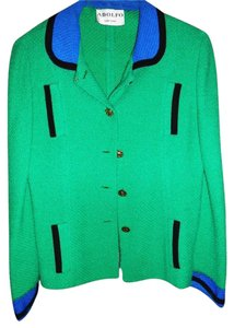 Adolfo Vintage Green/Black/Blue Blazer