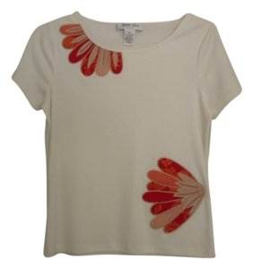 Judith Hart Embroidered T Shirt white