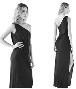 BCBGMAXAZRIA Gown Draped One Contemporary Sexy Semi-formal Unique Long Dress