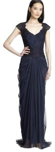 Tadashi Shoji Beaded Tulle Evening Gown Dress