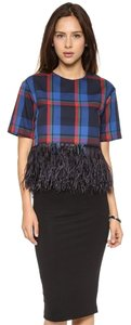 Endless Rose Feathers Crop Top plaid