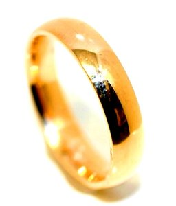 Ella Bridals Yellow 5mm Plain Gem's Men's Wedding Band