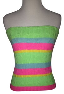 Ralph Lauren Cashmere Tube Multicolor Halter Top