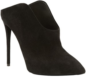 Giuseppe Zanotti Suede Stiletto Booties Boots Black Mules