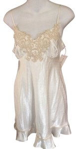 Linea Donatella Linea Donatella Chemise Embroidered Beaded Babydoll Size S
