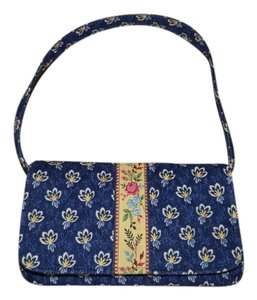 Vera Bradley Cotton Floral Blue Shoulder Bag